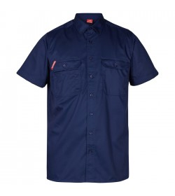 FE-Engel Kortærmet Herreskjorte Blue Ink-20