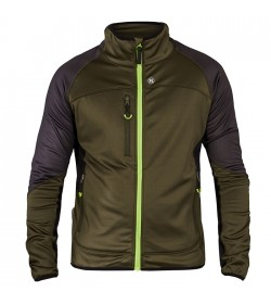 FE-Engel X-treme Midlayer-Cardigan Forest Green/Sort-20