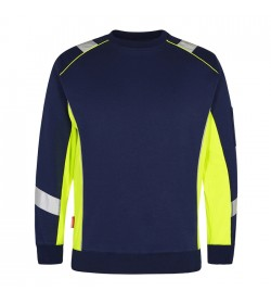 FE-Engel Cargo Sweatshirt Blue Ink/Gul-20