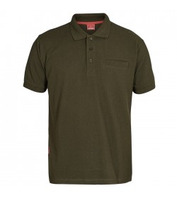 FE-Engel Poloshirt Med Brystlomme Forest Green-20
