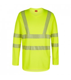 FE-Engel Safety Langæ. T-Shirt M/V-Hals Gul-20