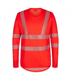 FE-Engel Safety Langæ. T-Shirt M/V-Hals Rød-20