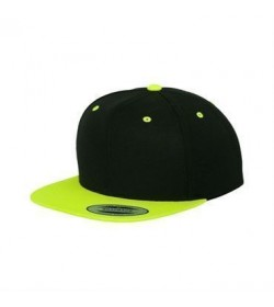 Snapback cap sort/grøn-20