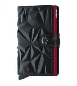 Secrid mini wallet prism black red-20