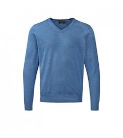 Belika Pullover v-hals Blå-20