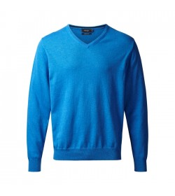 Belika Pullover v-hals Denim Blå-20