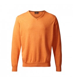 Belika Pullover v-hals Orange-20