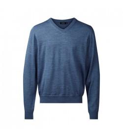 Belika Pullover v-hals Blue melange-20