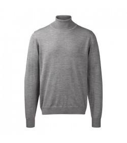 Belika Rullekrave-pullover Stengrå-20