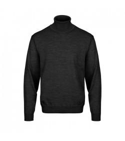 Belika Rullekrave-pullover Sort-20