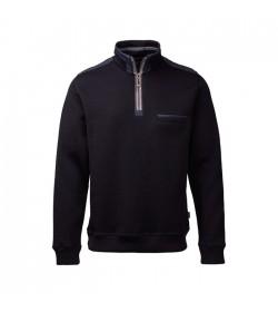 Clipper Zip-hals pullover Navy Mix-20