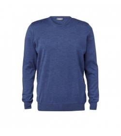 Clipper Pullover rund hals Denim Blå-20