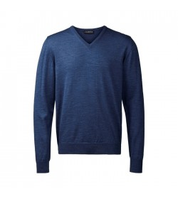 Clipper Pullover v-hals Denim Blå-20