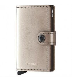 Secrid mini wallet metallic champagne-brown-20