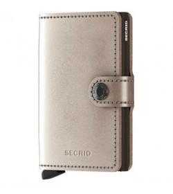 Secrid mini wallet metallic champagne-brown-20