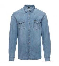 Wrangler denim skjorte W5973O74E-20