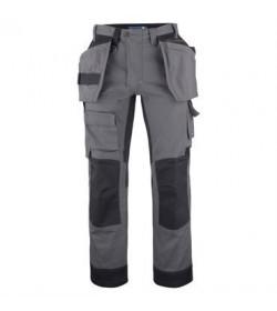 ProJob 5524 arbejdsbukser med forstærkede knæ grå-20