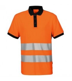 ProJob 6008 sikkerhedspolo EN ISO 20471-Klasse 2 orange/sort-20