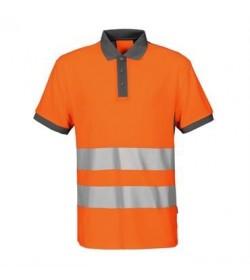 ProJob 6008 sikkerhedspolo EN ISO 20471-Klasse 2 orange/grå-20