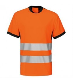 ProJob 6009 sikkerhedst-shirt EN ISO 20471-Klasse 2 orange/sort-20