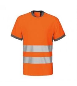 ProJob 6009 sikkerhedst-shirt EN ISO 20471-Klasse 2 orange/grå-20