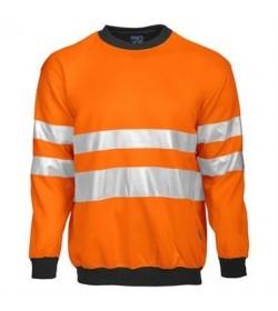 ProJob 6101 sikkerhedstrøje EN ISO 20471-Klasse 3 orange/sort-20