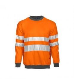 ProJob 6101 sikkerhedstrøje EN ISO 20471-Klasse 3 orange/grå-20