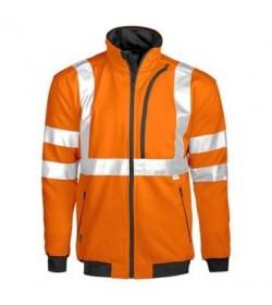 ProJob 6103 sikkerhedstrøje EN ISO 20471-Klasse 3 orange/sort-20