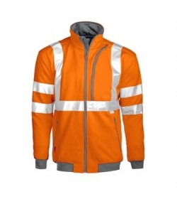 ProJob 6103 sikkerhedstrøje EN ISO 20471-Klasse 3 orange/grå-20