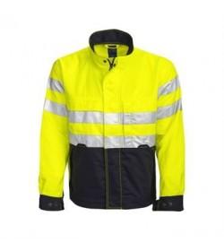ProJob 6105 refleks-softshell jakke gul/navy-20