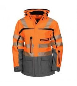 ProJob 6417 sikkerhedsjakke EN ISO 20471-Klasse 2/3 orange/grå-20