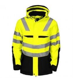 ProJob 6418 foret sikkerhedsjakke EN ISO 20471-Klasse 2/3 gul/sort-20