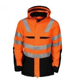 ProJob 6418 foret sikkerhedsjakke EN ISO 20471-Klasse 2/3 orange/sort-20