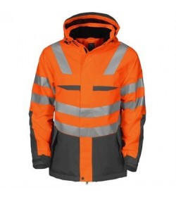 ProJob 6418 foret sikkerhedsjakke EN ISO 20471-Klasse 2/3 orange/grå-20