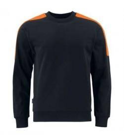 ProJob 2125 arbejdssweatshirt sort/orange-20