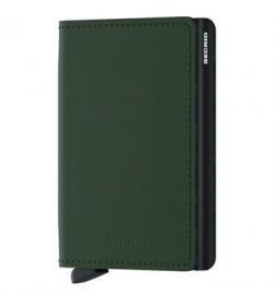 Secrid slim wallet matte green black-20