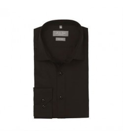 Seven Seas skjorte modern fit ss8 black-20