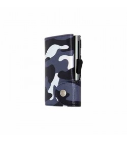 C-secure single wallet Camouflage Black / Silver cardholder-20