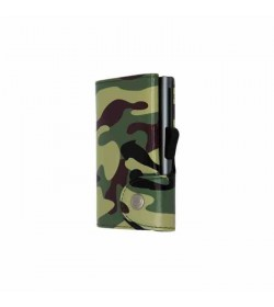C-secure single wallet Camoufklage Green / Grey cardholder-20