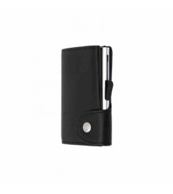 C-secure single wallet Black Nero / Silver cardholder-20
