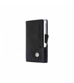 C-secure single wallet Vintage Blackwood / Silver cardholder-20
