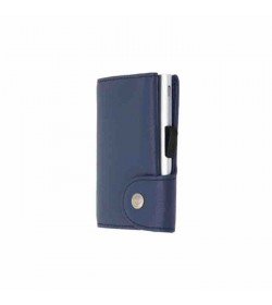 C-secure single wallet Blue Marino / Silver cardholder-20