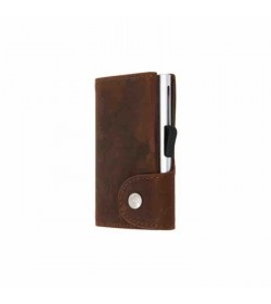 C-secure single wallet Buffalo / Silver cardholder-20