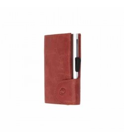 C-secure single wallet Vintage Cognac / Silver cardholder-20