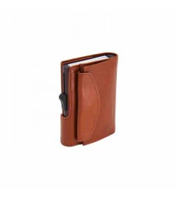 C-secure XL wallet with coin pocket Chestnut / brown cardholder-20