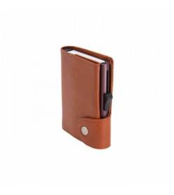 C-secure XL wallet Chestnut / Silver cardholder-20