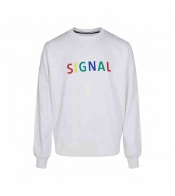 Signal sweatshirt Benjamin white-20