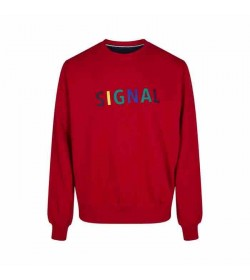 Signal sweatshirt Benjamin red-20