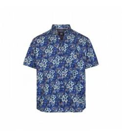 Signal kort ærmet skjorte Abel New York Blue-20