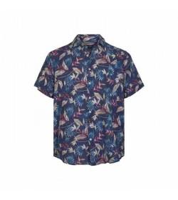Signal kort ærmet skjorte Jock New York blue-20
